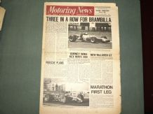 MOTORING NEWS 1968 Dec 5 Temporada F2, Marathon Rally, USAC Riverside, Lancia